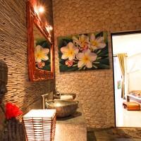 Ein gemütliches Badezimmer